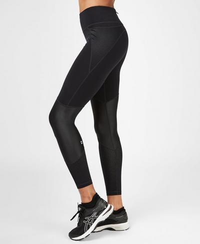 Power Mesh Gym Leggings, Black | Sweaty Betty