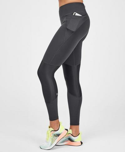 Power Mesh Workout Leggings, Slate Grey | Sweaty Betty