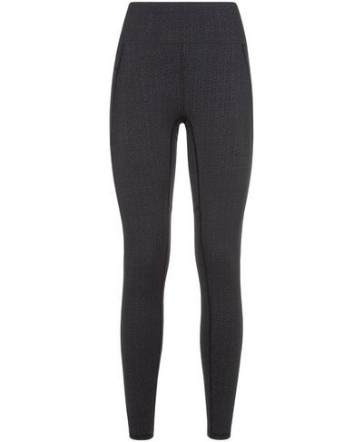 Zero Gravity High Waisted Glitter Running Leggings, Black | Sweaty Betty