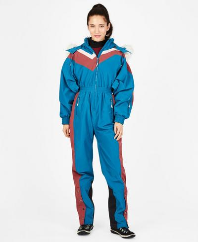 Alps Softshell Ski All In One, Mosaic Blue | Sweaty Betty