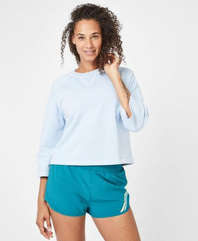 Half Pipe Short Sleeve Workout Shirt, Infinity Blue | Sweaty Betty