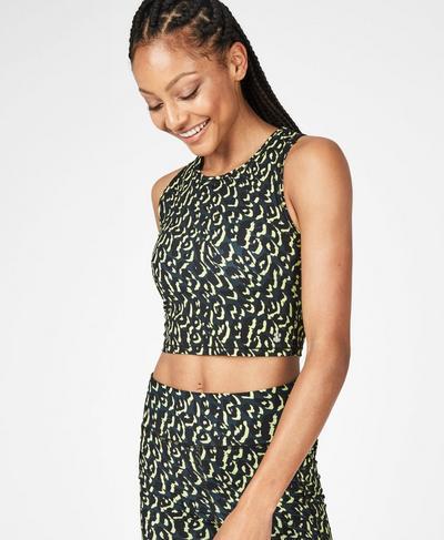 Homestraight Running Vest, Citrus Leopard Print   Sweaty Betty