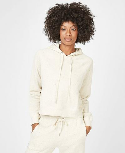 Liberate Cropped Hoodie, Off White | Sweaty Betty