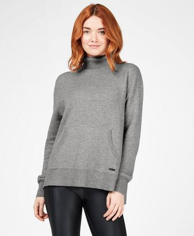 Hampstead Sweater, Light Grey Marl | Sweaty Betty
