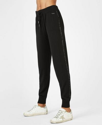Alpine Merino Knitted Trousers, Black | Sweaty Betty