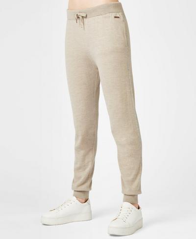 Alpine Merino Knitted Pants, Oatmeal Marl | Sweaty Betty
