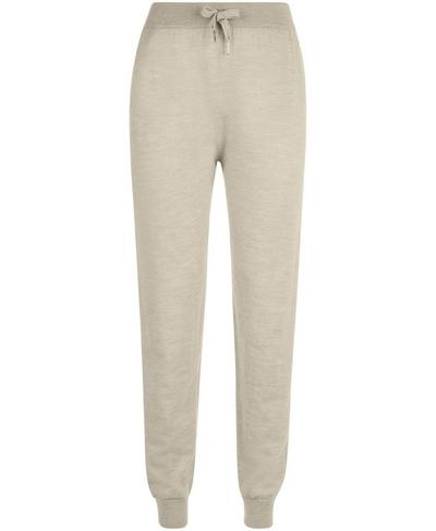 Alpine Merino Knitted Trousers, Oatmeal Marl | Sweaty Betty