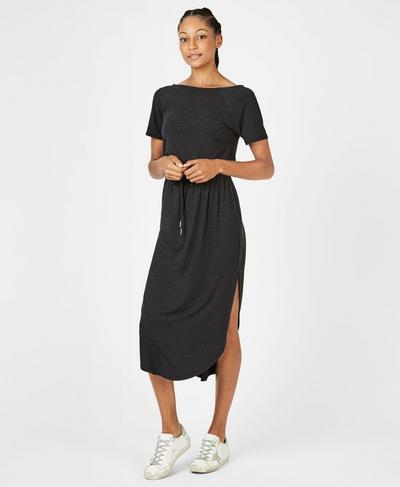 Artemis Dress, Black Marl | Sweaty Betty