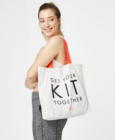 Canvas Tote Bag, Westfjords White | Sweaty Betty