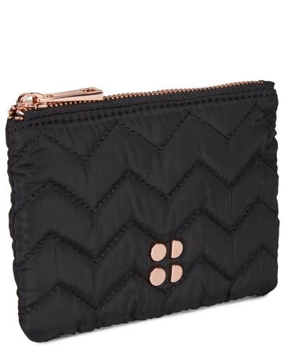 Icon Quilted Wallet, Black | Sweaty Betty