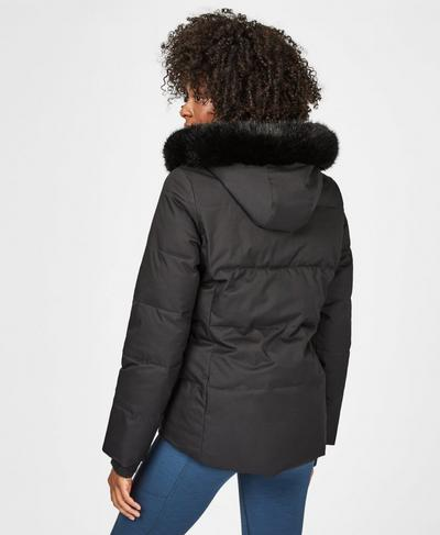 North Pole Short Primaloft Jacket, Black | Sweaty Betty