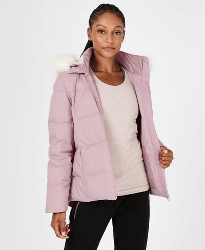 North Pole Short Primaloft Jacket, Velvet Rose | Sweaty Betty
