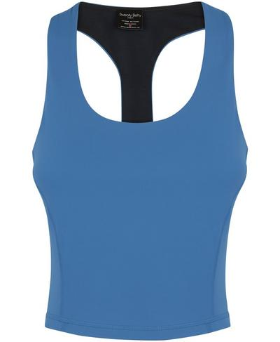 Power Crop Workout Tank, Stellar Blue | Sweaty Betty