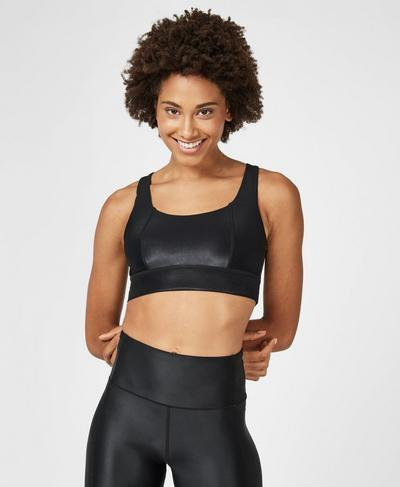 Studio Open Back Sports Bra, Black | Sweaty Betty