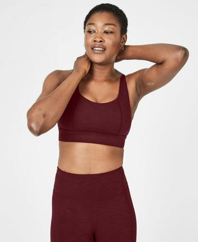 Open Back Studio Workout Tank, Black Cherry | Sweaty Betty