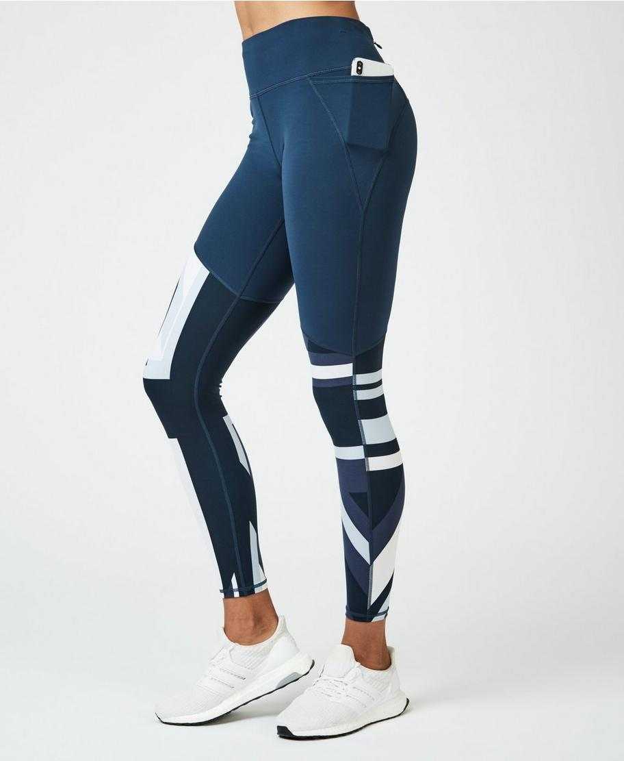 Discover reasonably priced discover latest trends Power Workout Leggings - Beetle Blue Union Jack | Women's ...