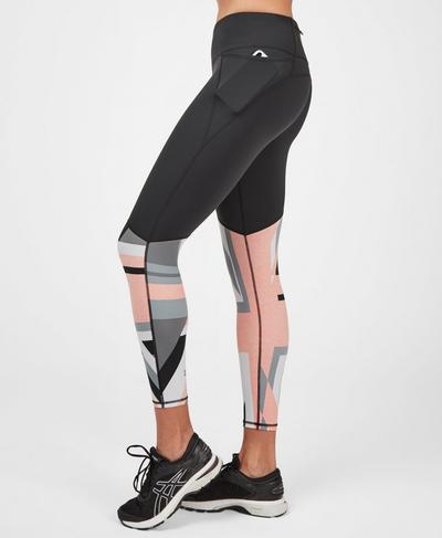 Power Workout Leggings, Grey Union Jack Print | Sweaty Betty