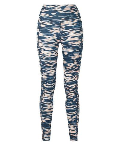 Super Sculpt High Waisted Mesh Yoga Leggings, Stellar Blue Water Print | Sweaty Betty