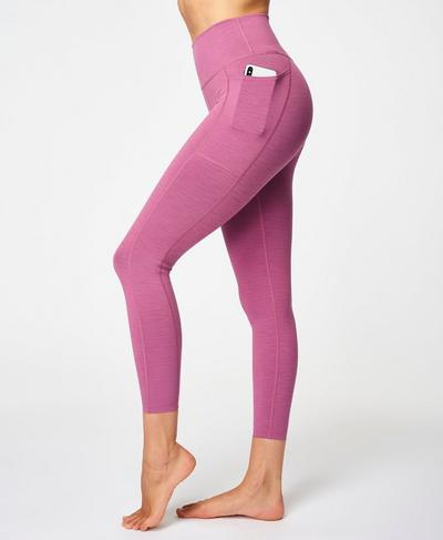 Super Sculpt High Waisted 7/8 Yoga Leggings, Argyle Purple Marl | Sweaty Betty