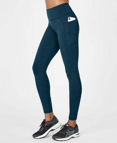 Super Sculpt High Waisted Yoga Leggings, Beetle Blue | Sweaty Betty