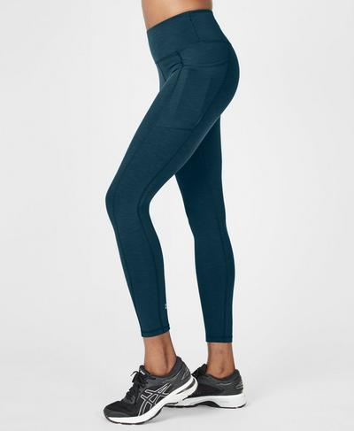 Super Sculpt High-Waisted Yoga Leggings, Beetle Blue | Sweaty Betty