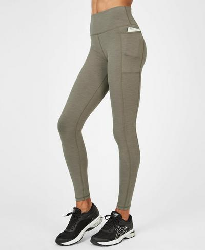 Super Sculpt High Waisted Yoga Leggings, Dark Taupe | Sweaty Betty