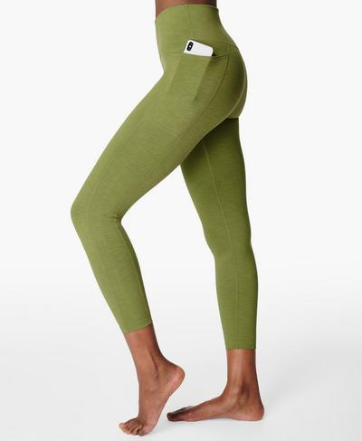 Hochgeschnittene Super Sculpt Yoga Leggings in 7/8-Länge, Fern Green | Sweaty Betty