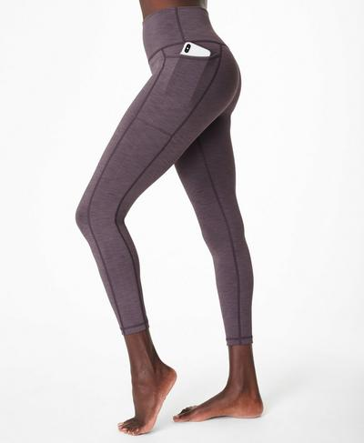 Super Sculpt 7/8-Yogaleggings mit hohem Bund, Fig Purple | Sweaty Betty