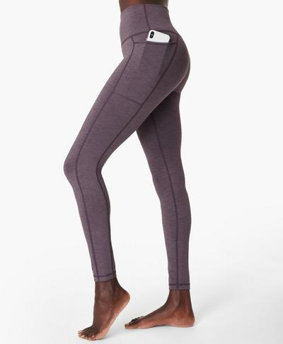 Super Sculpt Yogaleggings mit hohem Bund, Fig Purple | Sweaty Betty