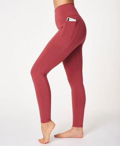 Super Sculpt High Waisted Yoga Leggings, Renaissance Red Marl | Sweaty Betty