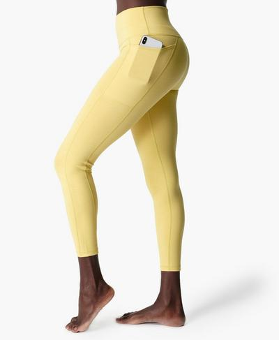 Hochgeschnittene Super Sculpt Yoga Leggings in 7/8-Länge, Riviera Yellow | Sweaty Betty