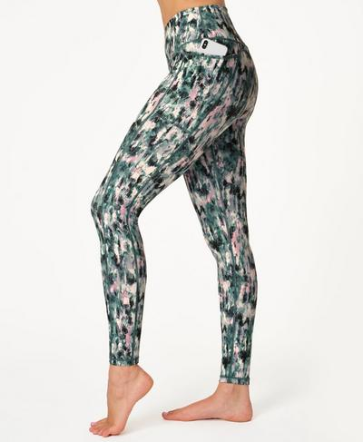 Super Sculpt Sustainable High-Waisted Yoga Leggings, Blue Xray Floral Print | Sweaty Betty