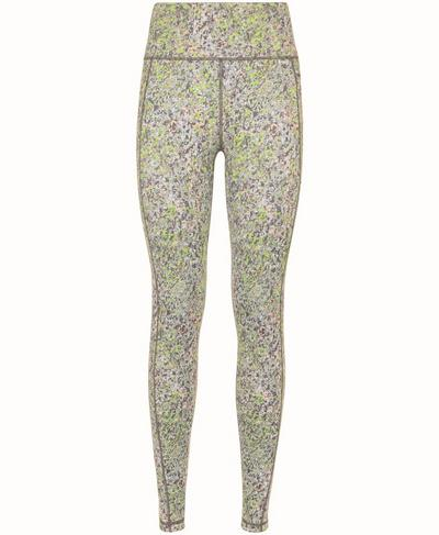 Super Sculpt Soft High Waisted Yoga Leggings, Green Alert Pebble Print | Sweaty Betty