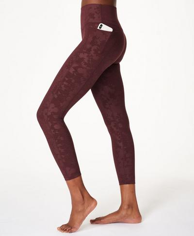 Super Sculpt High Waisted 7/8 Yoga Leggings, Black Cherry Purple | Sweaty Betty