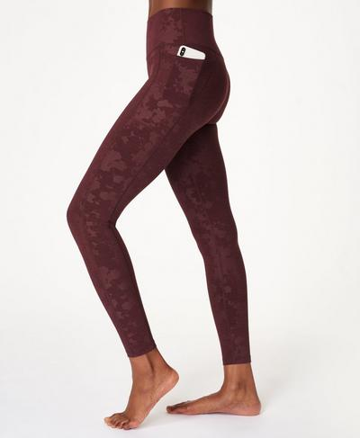 Super Sculpt High Waisted Yoga Leggings, Black Cherry Purple | Sweaty Betty
