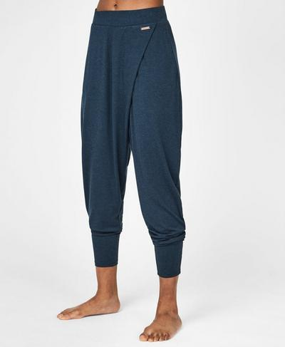 Wrap Front Bannatyne Yoga Pants, Beetle Blue | Sweaty Betty