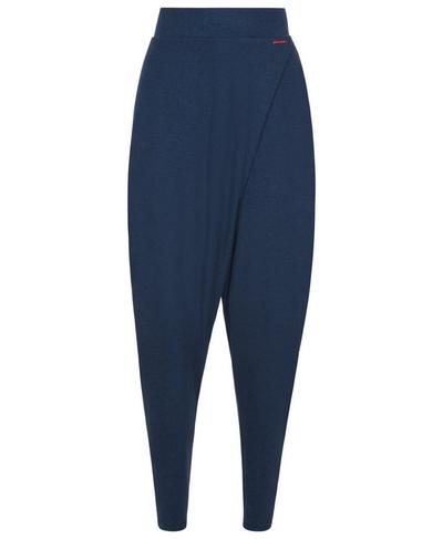 Wrap Front Bannatyne Yoga Pants, Beetle Blue   Sweaty Betty