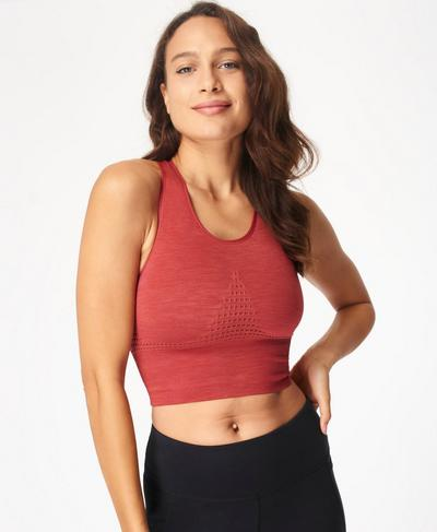 Stamina Longline Sports Bra, Renaissance Red | Sweaty Betty