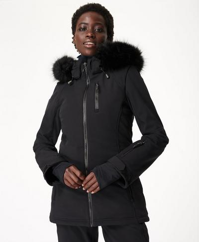 Exploration Softshell Ski Jacket, Black | Sweaty Betty