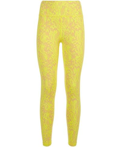 Flatter Me Jacquard 7/8 Gym Leggings, Camel Brown Snake Jacquard | Sweaty Betty