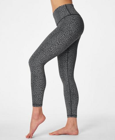 Flatter Me Jacquard 7/8 Gym Leggings, Slate Grey | Sweaty Betty