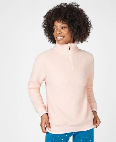 Sierra Sherpa Pullover, Liberated Pink | Sweaty Betty