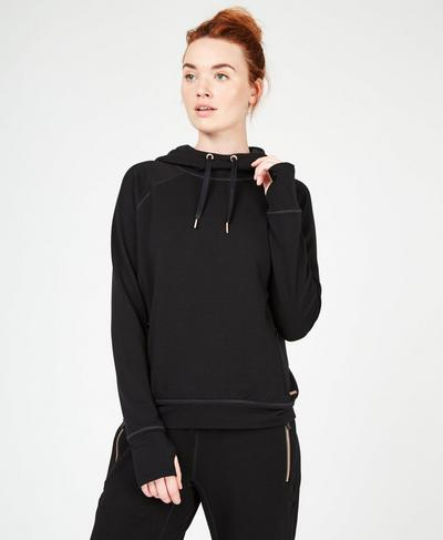 Rhythm Merino Hoodie, Black | Sweaty Betty