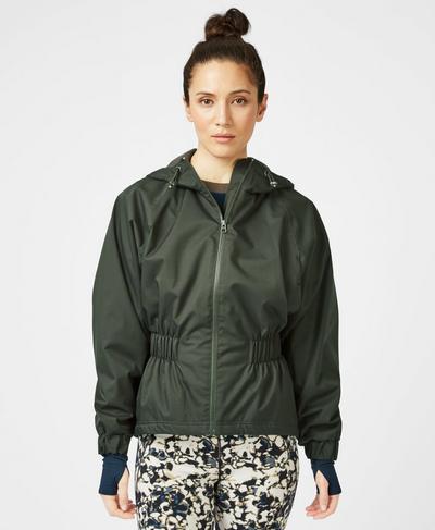 Storm Seeker Waterproof Jacket, Dark Forest Green   Sweaty Betty
