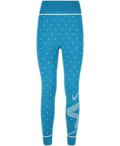 Freestyle Ski Merino Base Layer Leggings, Ski Jumper Blue Jacquard | Sweaty Betty