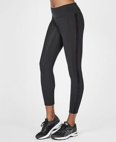 Thermodynamic Thermal 7/8 Running Leggings, Black | Sweaty Betty
