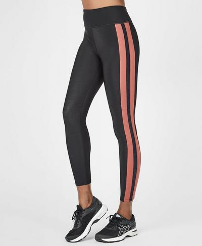 Thermodynamic Thermal 7/8 Running Leggings, RUST | Sweaty Betty