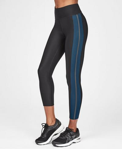 Thermodynamic Thermal 7/8 Running Leggings, Beetle Blue | Sweaty Betty