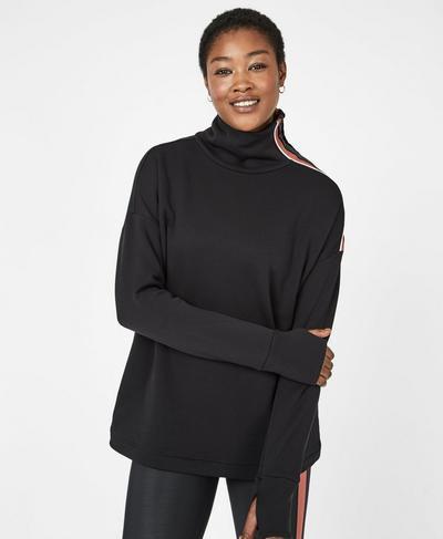 Freedom Thermal Running Pullover, Black | Sweaty Betty
