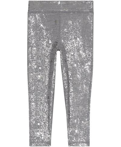 Baby Disco Foil Leggings, Gunmetal Glitter Print | Sweaty Betty